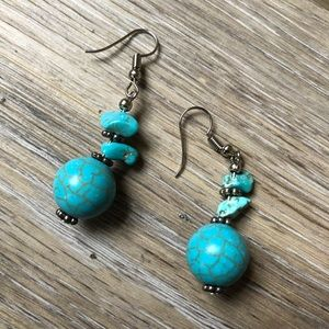 Gorgeous turquoise drop earrings